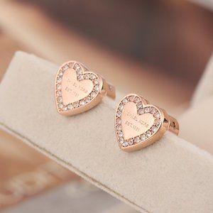 Michael Kors Classic Logo Love Stud Earrings